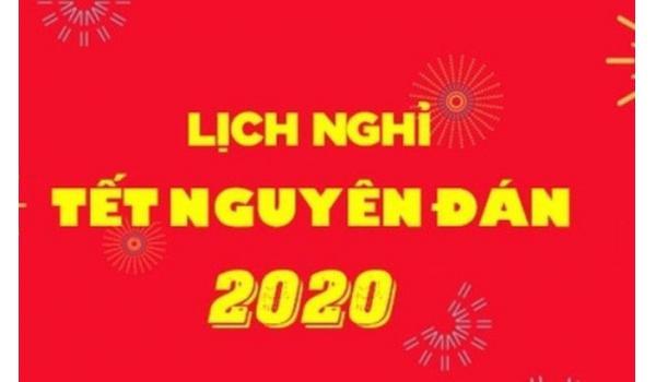 Thông báo nghỉ lễ tết Nguyên Đán 2020