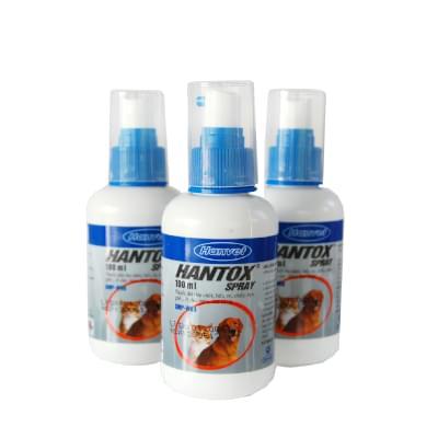 Hantox Spray diệt hiệu quả bọ chét, bét, ve, chấy, rận ở vật nuôi.
