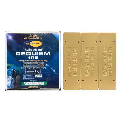 Labyrinth hộp chứa chế phẩm trừ mối sử dụng trong nhà với chế phẩm trừ mối Requiem 1RB